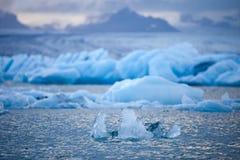 Jökulsárlón - famous glacial lagoon, South Iceland Royalty Free Stock Image
