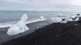 Jökulsárlón Glacier Beach, Iceland Royalty Free Stock Photos