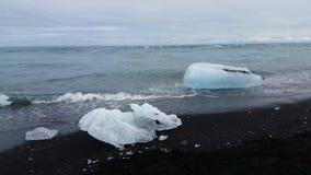 Jökulsárlón Glacier Beach, Iceland Stock Photo
