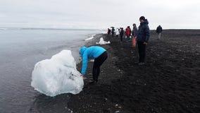 Jökulsárlón Glacier Beach, Iceland Stock Photography