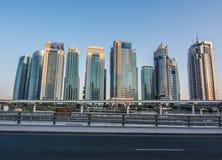 JLT塔,迪拜 库存图片