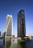 JLT Dubai skyscraper reflections. Day time Stock Image