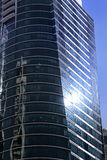 JLT Dubai skyscraper. Reflections, day time Royalty Free Stock Images