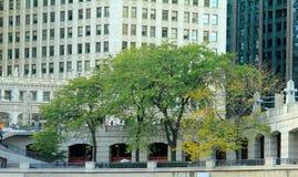 Jn a terraplenagem em Chicago, IL imagem de stock royalty free