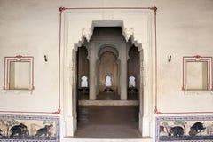 Jnana mahal, kumbhalgarh fort. Beautiful art of elephant. jnana mahal  ladies palace  a part of kumbhalgarh fort. kumbhalgarh fort at rajsamand district of Stock Images