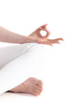 Jnana mudra isolated Royalty Free Stock Images