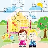 João e Maria Puzzlespiel Lizenzfreie Stockbilder