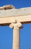 Jońska kolumna Erechtheion, Ateny, Grecja Obraz Stock