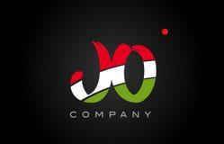 JO J O alphabet letter logo combination icon alphabet design Royalty Free Stock Photos