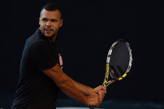 Jo-Wilfried Tsonga (FRA) immagine stock