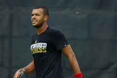 Jo-Wilfried Tsonga (FRA) Royalty Free Stock Photo