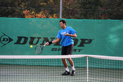 Jo-Wilfried Tsonga during a practice session Royalty Free Stock Image