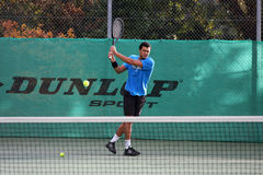 Jo-Wilfried Tsonga during a practice session Stock Image