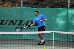Jo-Wilfried Tsonga during a practice session Royalty Free Stock Photography