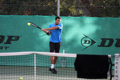 Jo-Wilfried Tsonga during a practice session Stock Photography