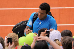 Jo-Wilfried Tsonga at Roland Garros 2009 Royalty Free Stock Photography