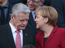 Joachim Gauck, Angela Merkel Stock Photography