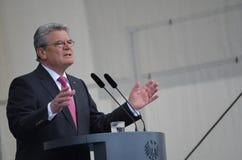 Joachim Gauck, President van Duitsland Stock Fotografie