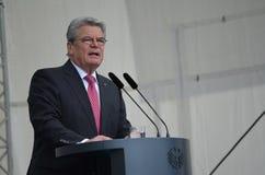 Joachim Gauck, President van Duitsland stock afbeelding