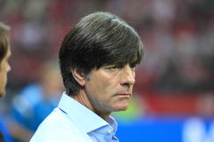 Joachim Low. WARSAW, POLAND - OCTOBER 11, 2014: Joachim Low, head coach of the German national football team during the UEFA EURO 2016 qualifying match of Poland Stock Photos
