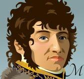 Joachim Murat, Marshal of France and King of Naples. Vector illustration portrait of Joachim Murat Royalty Free Stock Photography