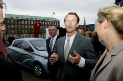 JOACHIMARRIVES AT TROPHY哥本哈根蒙特卡洛王子 库存照片