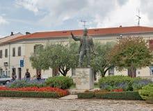 Joakim Rakovac Square in Porec, Crioatia Stock Fotografie