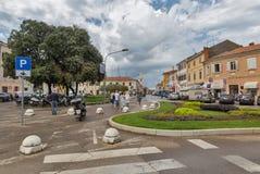 Joakim Rakovac Square in Porec, Crioatia Stock Afbeelding