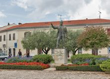 Joakim Rakovac Square in Porec, Crioatia. Stock Photography