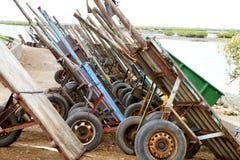 Joal Fadiouth Shellinsel in der Afrika-Senegal Lizenzfreie Stockfotos