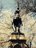 Joan του αγάλματος γυναικών τόξων στο άλογο Στοκ Φωτογραφίες