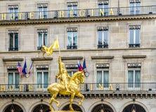 Joan του τόξου, Παρίσι, Γαλλία στοκ φωτογραφίες
