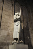 Joan of arc. Statue of Joan of Arc in the Notre Dame de Paris Royalty Free Stock Photo