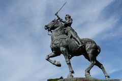 Joan of Arc. Statue with Blue Sky Royalty Free Stock Photos