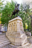 Joan of Arc Memorial - New York City. Joan of Arc Memorial in Riverside Park, Manhattan, New York.  The bronze equestrian sculpture is of the 15th century French Royalty Free Stock Photography