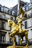 Joan of Arc , Paris, France. The golden statue of Saint Joan of Arc on the Rue de Rivoli in Paris, France Stock Image