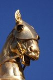 Joan of Arc. Statue of the horse of Joan of Arc in Paris Stock Image