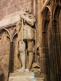 Joan of Arc statue. Statue of Joan of Arc in a side nave of the Cathedral of Narbonne Royalty Free Stock Photography