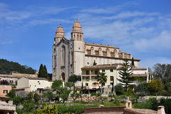 Joan Baptista church on island Majorca,village Calvia. Joan Baptista church on island Majorca,Spain royalty free stock photography