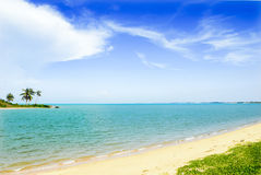 Joan chau strait scenery,. Enjoy the tropical beach and beautiful scenery of the islands Stock Photos
