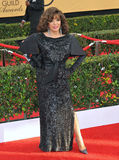 Joan Collins. LOS ANGELES, CA - JANUARY 25, 2015: Joan Collins at the 2015 Screen Actors Guild  Awards at the Shrine Auditorium Stock Photo