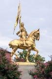 Joan der Arche, Mädchen von Orleans-Statue Lizenzfreie Stockfotografie