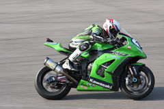 Joan Lascorz - Kawasaki ZX-10R. Kawasaki Racing Team in the world Superbike Championship SBK Royalty Free Stock Photography