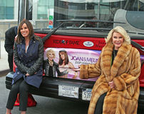 Joan and Melissa River. Melissa and Joan  Rivers celebrate their  induction into the Gray Line New York Ride of Fame campaign.  The event was held at Pier 78 at Royalty Free Stock Images