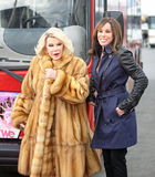 Joan and Melissa River. Melissa and Joan  Rivers celebrate their  induction into the Gray Line New York Ride of Fame campaign.  The event was held at Pier 78 at Stock Photo