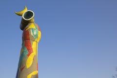 Joan Miro. Dona i Ocell, Barcelona, Spain Stock Images