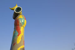 Joan Miro. Dona i Ocell, Barcelona, Spanje stock afbeeldingen