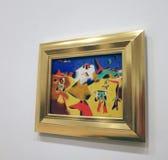 Joan Miro At The MOMA royalty-vrije stock afbeeldingen
