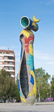 Joan Miro Mujer y Pajaro à Barcelone, Espagne Photo stock