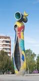 Joan Miro Mujer y Pajaro a Barcellona, Spagna Fotografia Stock